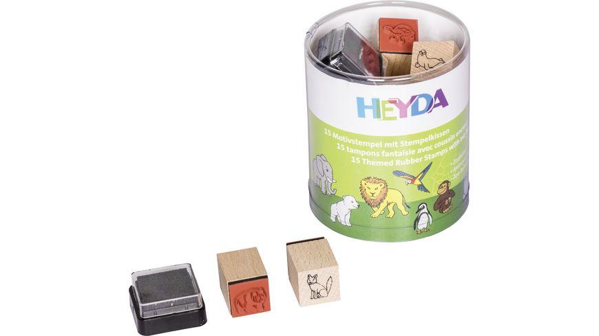 HEYDA Stempelset Zootiere