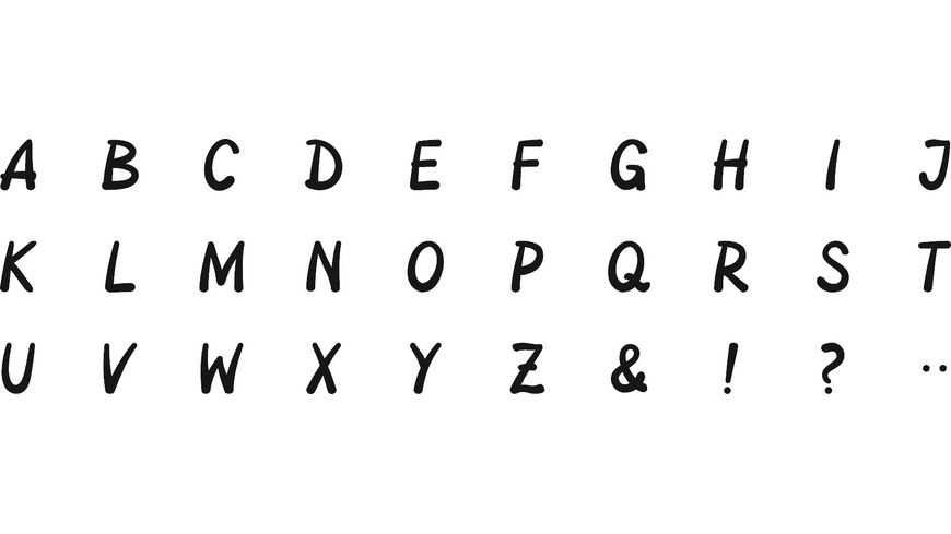 HEYDA Stempelset Alphabet