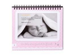 goldbuch Tischaufsteller Sweetheart rosa fuer 12 Fotos 10x15 cm
