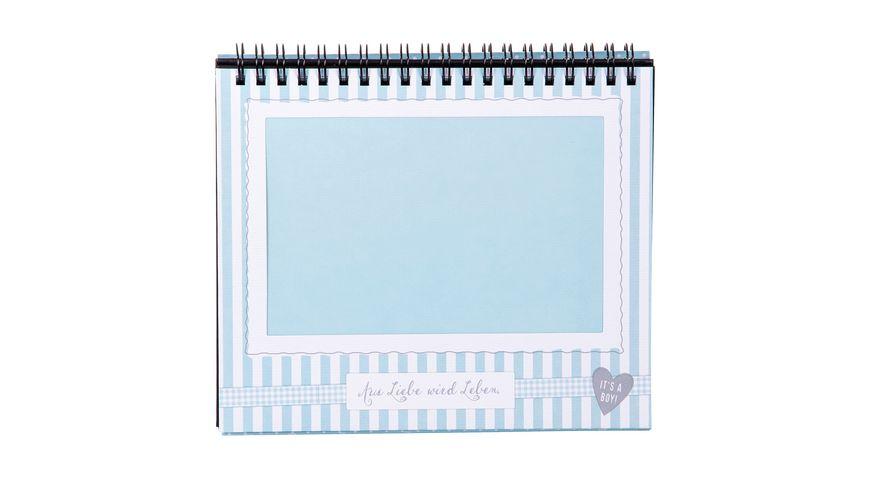 goldbuch Tischaufsteller Sweetheart blau fuer 12 Fotos 10x15 cm