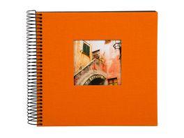 goldbuch Spiralalbum Bella Vista orange mit schwarzen Seiten 20x20 cm