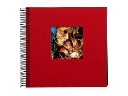 goldbuch Spiralalbum Bella Vista rot mit schwarzen Seiten 20x20 cm