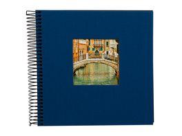 goldbuch Spiralalbum Bella Vista blau mit schwarzen Seiten 20x20 cm