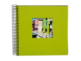 goldbuch Spiralalbum Bella Vista gruen mit schwarzen Seiten 20x20 cm