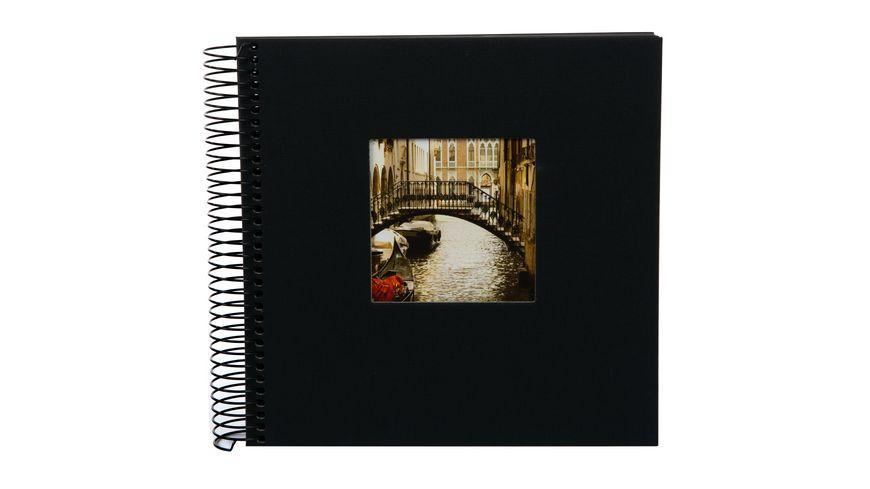 goldbuch Spiralalbum Bella Vista schwarz mit schwarzen Seiten 20x20 cm