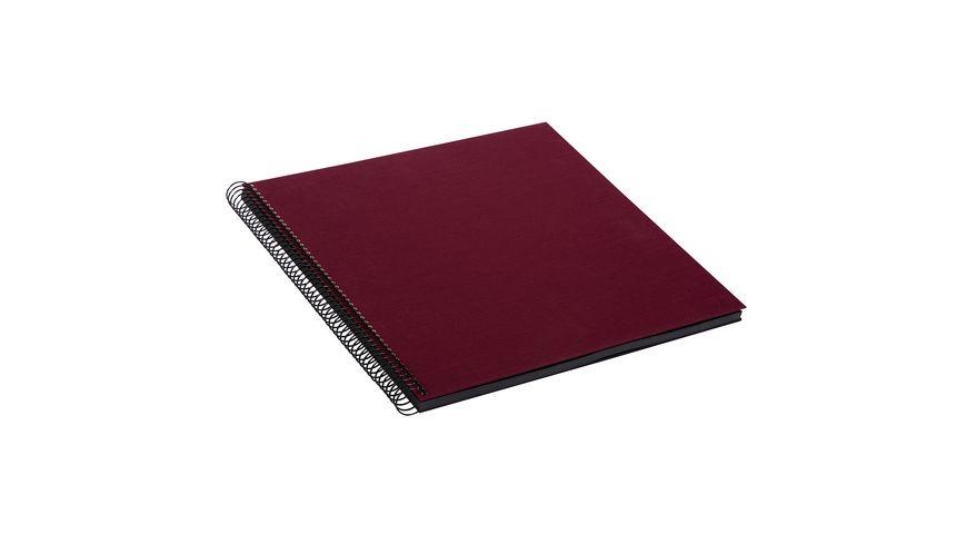 goldbuch Spiralalbum Bella Vista bordeaux mit schwarzen Seiten 30x34 cm
