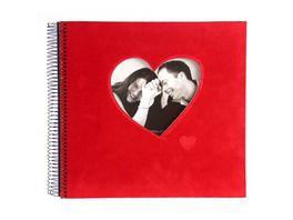 goldbuch Spiralalbum Rosso rot Herz 28x28 cm
