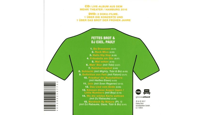 Gebaeck In The Days Live In Hamburg 2016 CD DVD