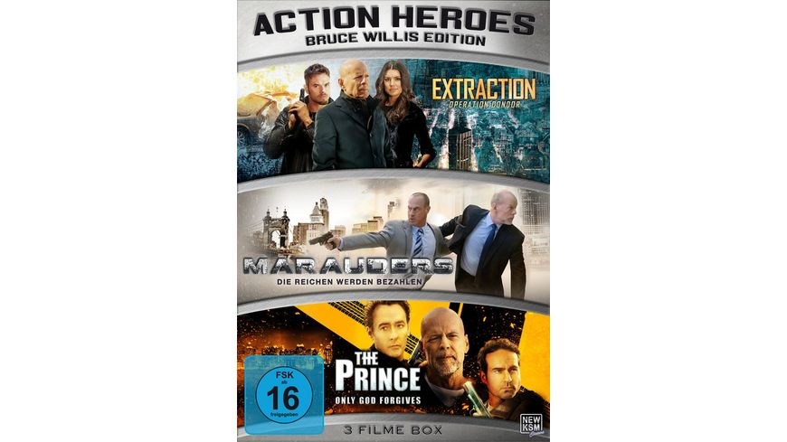Action Heroes Bruce Willis Edition Limited Edtion 3 DVDs