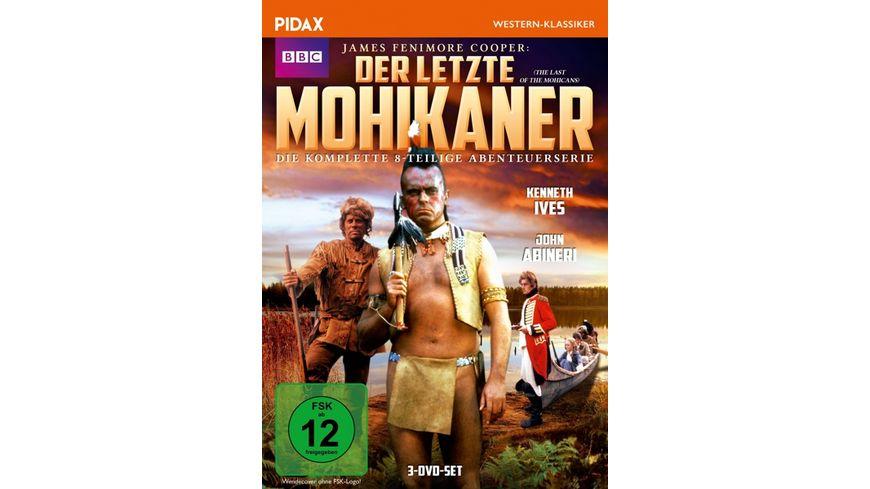 Der letzte Mohikaner The Last of the Mohicans Die komplette 8 teilige Abenteuerserie nach dem Bestseller von James Fenimore Cooper Pidax Western Klassiker 3 DVDs