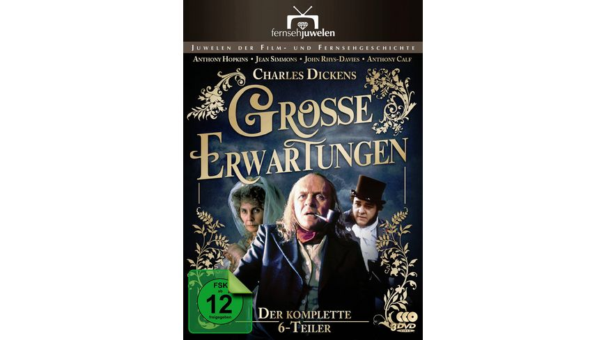 Charles Dickens Grosse Erwartungen Great Expectations Der 6 Teiler mit Anthony Hopkins 3 DVDs