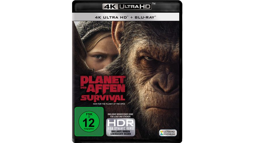 Planet der Affen Survival 4K Ultra HD Blu ray