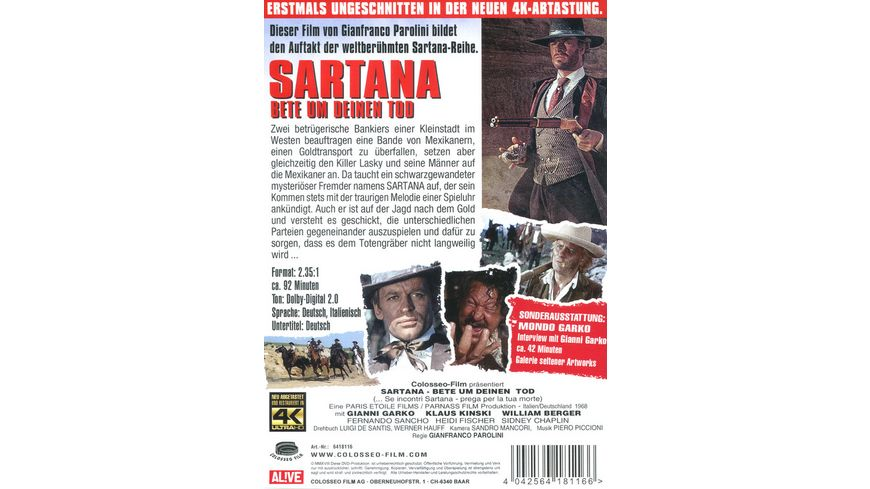 Sartana Bete um deinen Tod Uncut