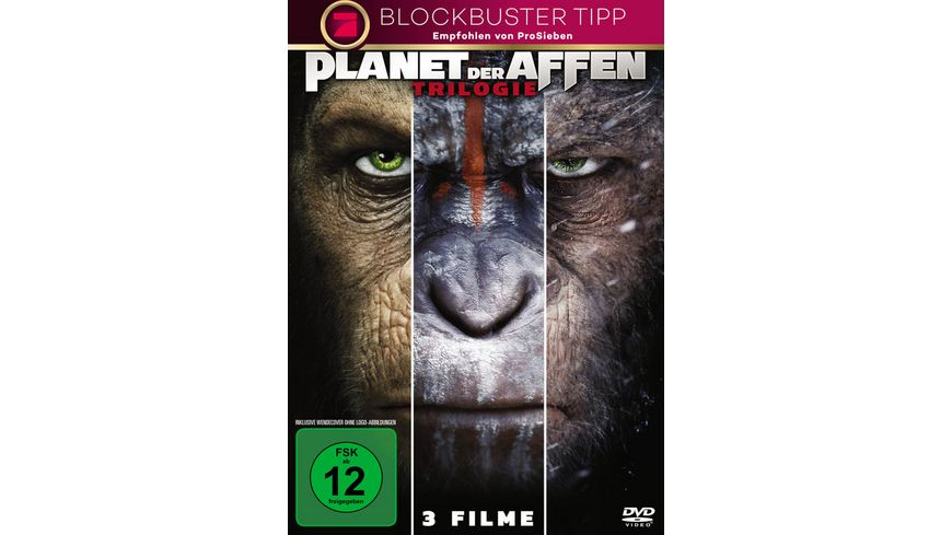 Planet der Affen Triologie 3 DVDs