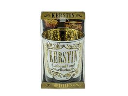 H H Metallics Kerze Kerstin