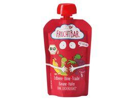 FRUCHTBAR Fruchtpueree Erdbeere Birne Traube Banane Hafer