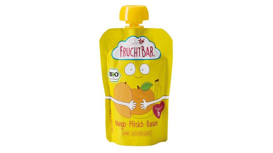 FRUCHTBAR Fruchtpueree Mango Pfirsich Banane