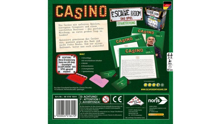 Noris Escape Room Erweiterung Casino