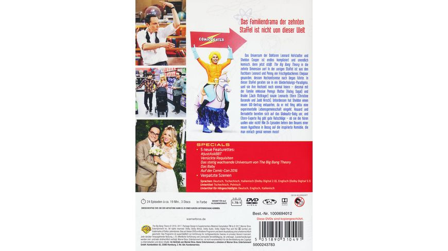 The Big Bang Theory Staffel 10 3 DVDs
