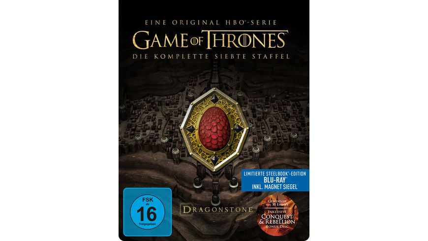 Game of Thrones Staffel 7 Steelbook Conquest und Rebellion Bonus Disc 3 BRs