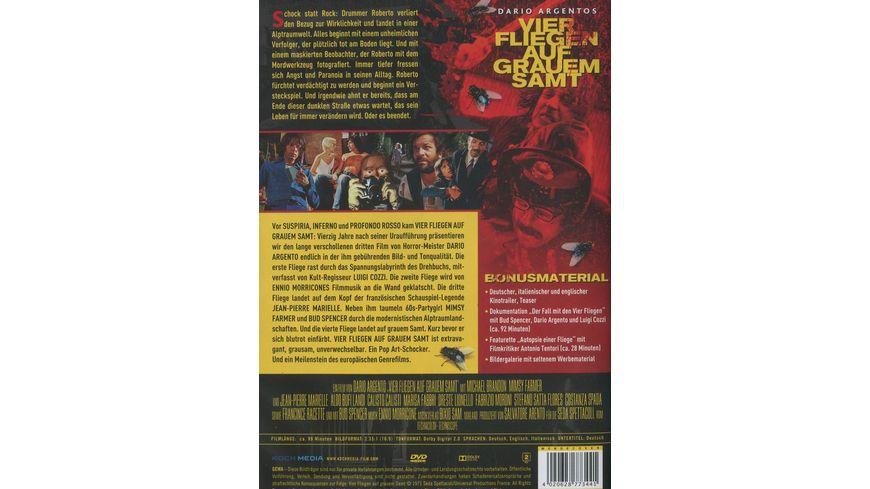 Dario Agentos Vier Fliegen auf grauem Samt Special Edition 2 DVDs