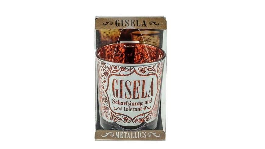 H H Metallics Kerze Gisela