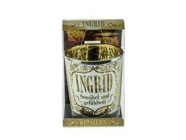 H H Metallics Kerze Ingrid