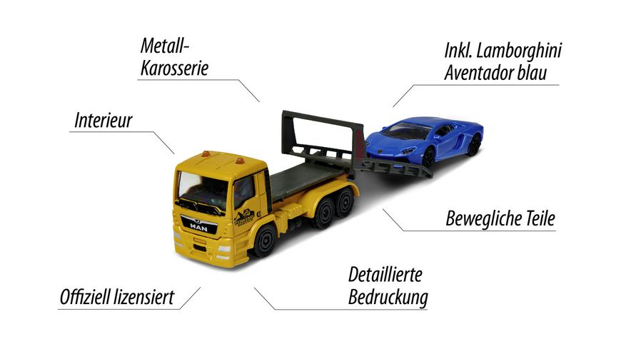 Majorette City Set City Small Set MAN TGA Tow Truck
