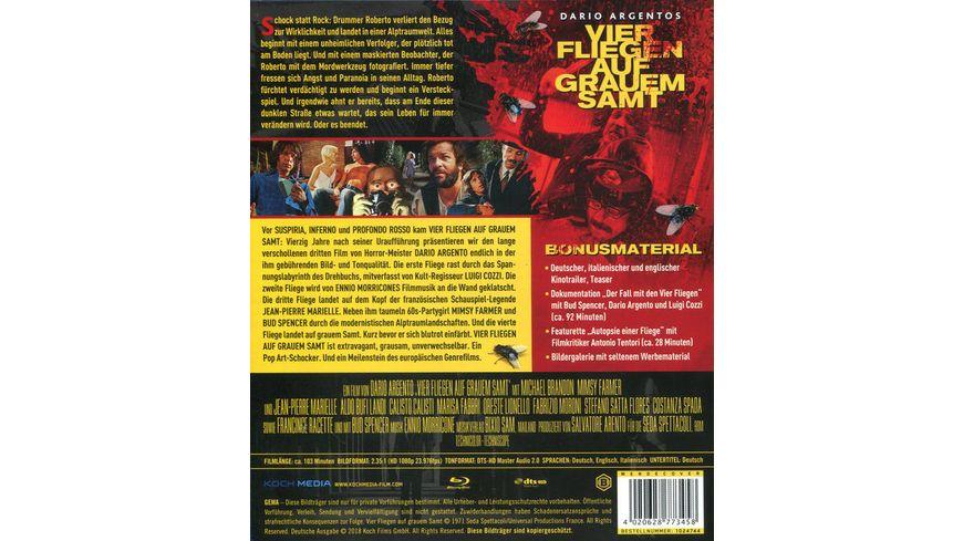 Dario Agentos Vier Fliegen auf grauem Samt Special Edition DVD