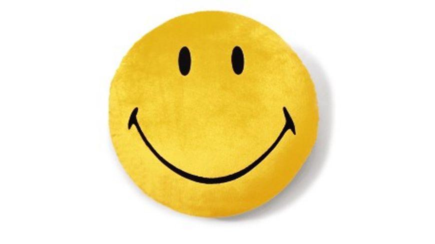 NICI Nici Smiley 1 Kissen Gelb 35cm Rund Pl