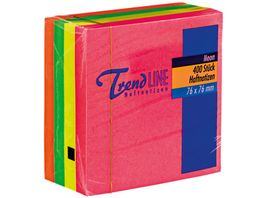 TrendlineHaftnotiz Wuerfel Neon 400 Blatt