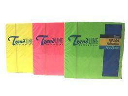 Tartan Haftnotiz Neon Notes 1 x 100 Blatt sortiert