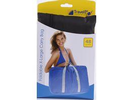 TravelBlue Tragetasche faltbar blau oder schwarz