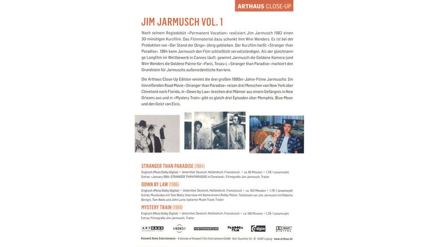 Jim Jarmusch Collection Vol 1 3 DVDs