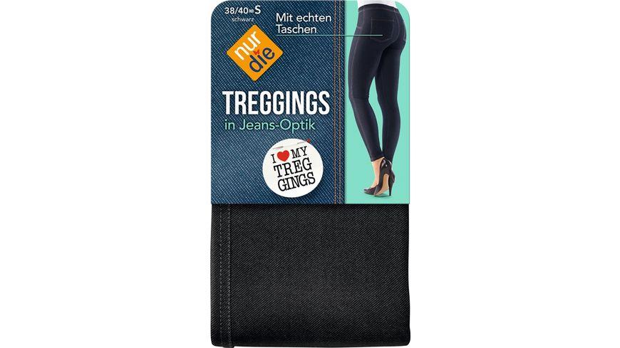 NUR DIE Treggings in Jeans Optik