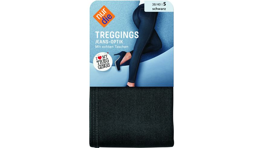 NUR DIE Damen Treggings in Jeans Optik