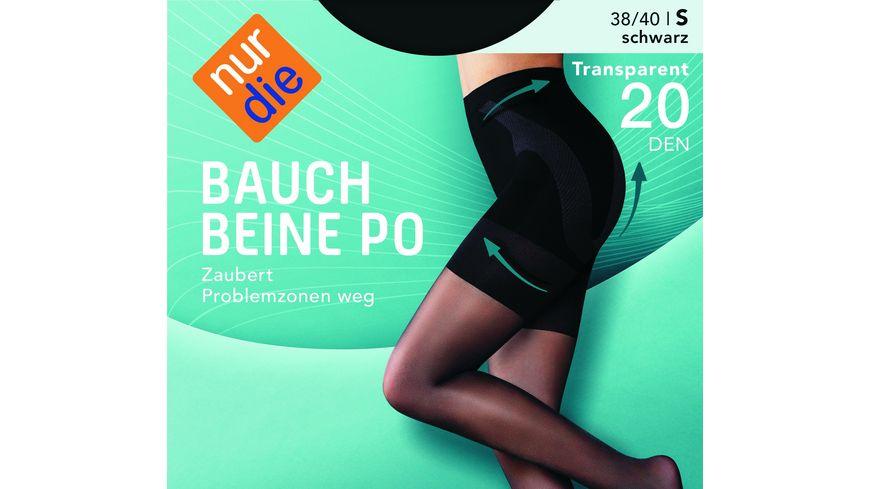 NUR DIE Damen figurformende Feinstrumpfhose Bauch Beine Po 20 DEN