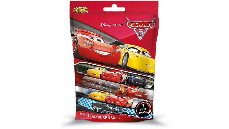 CRAZE Cars 3 Mini Slap Snap Bands 1 von 12 Blindpack