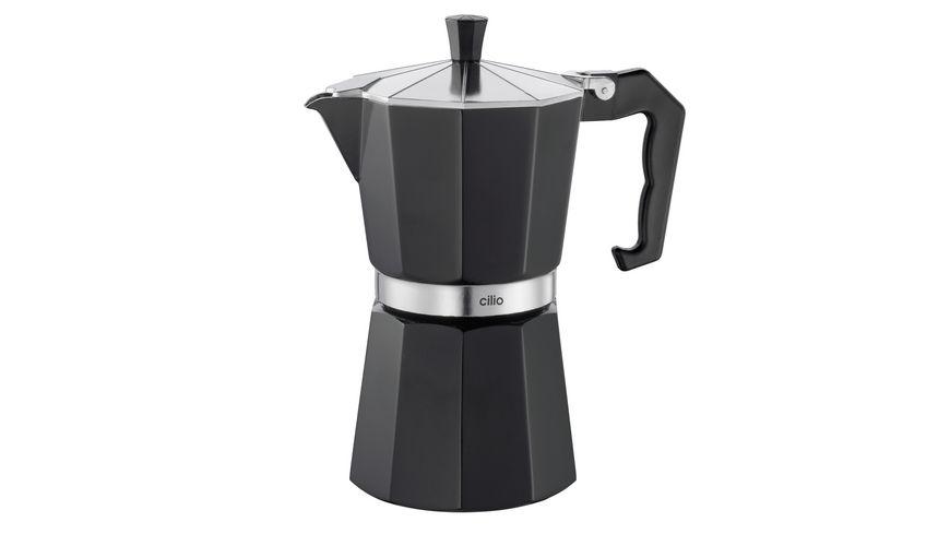 cilio Espressokocher Classico schwarz 6 Tasse