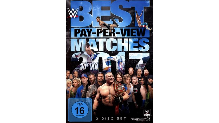 WWE Best PPV Matches 2017 3 DVDs