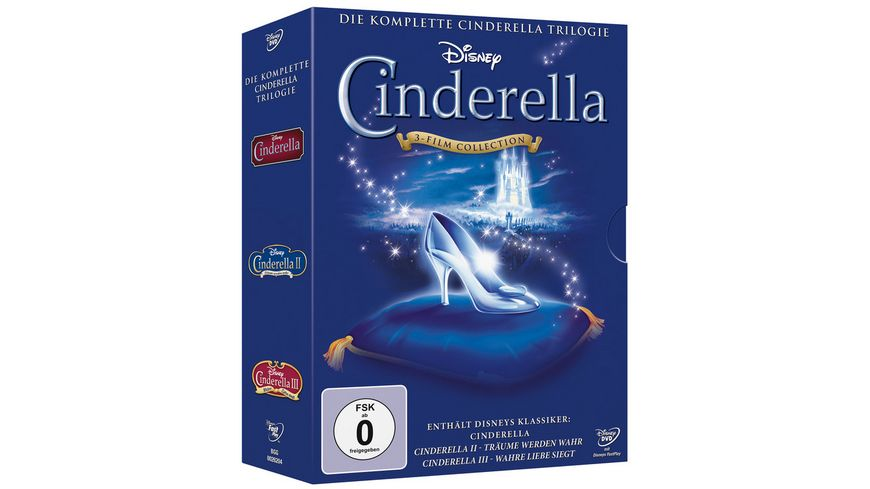 Cinderella 1 3 Trilogy 3 DVDs