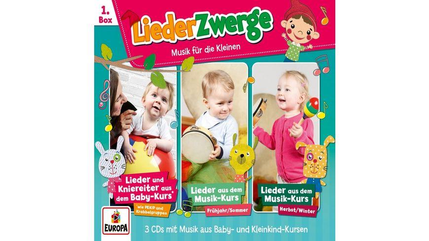 01 3er Box LiederZwerge Pekip Musik Kurs Vol 1