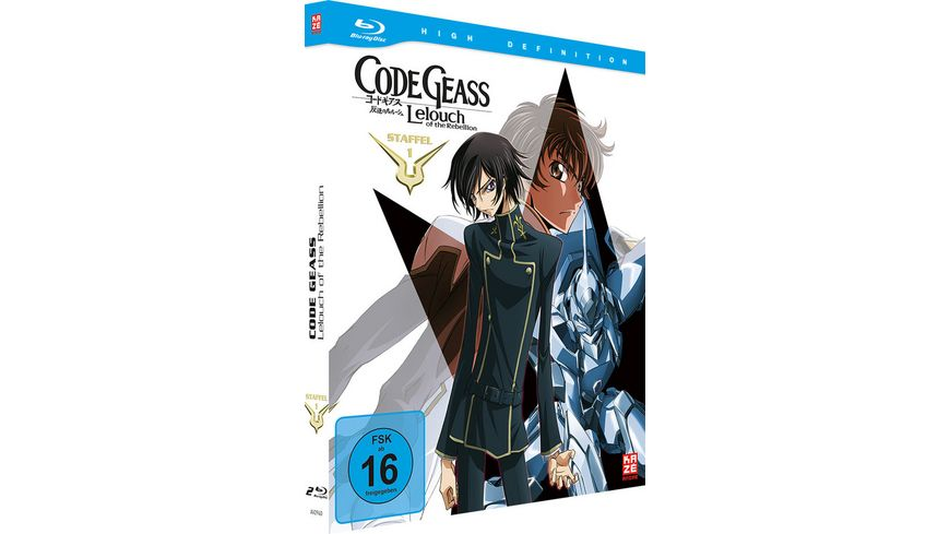 Code Geass Lelouch of the Rebellion Staffel 1 Mediabook Gesamtausgabe 2 BRs