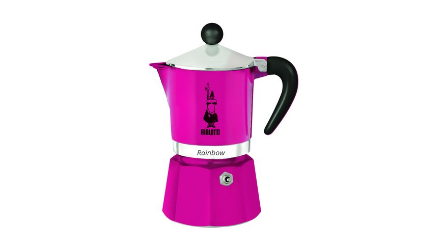 BIALETTI Espressokocher Rainbow Aluminium pink