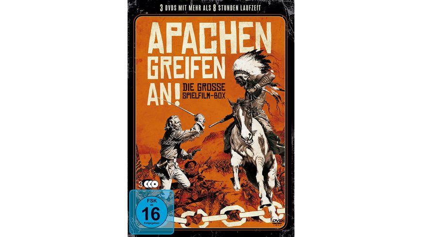 Apachen greifen an Die Grosse Spielfilm Box 3 DVDs