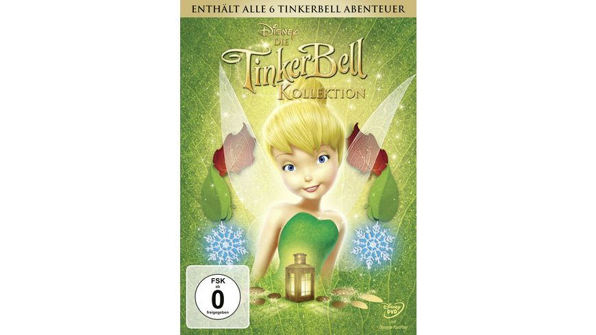 Die TinkerBell Kollektion 6 DVDs