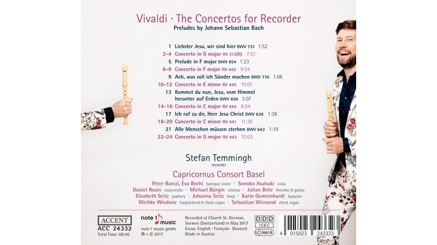 The Concertos for Recorder