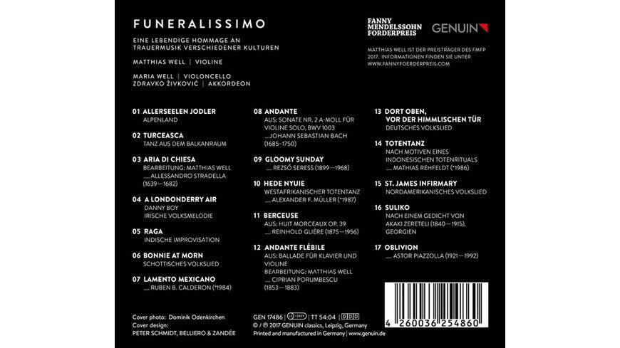 Funeralissimo Eine Hommage an Trauermusiken