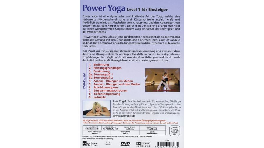 Power Yoga Das Workout Programm