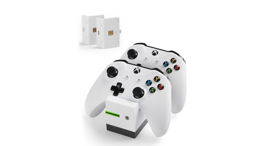 snakebyte Xbox One Twin Charge X white